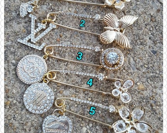 Designer Inspired Gold Tone Brooches