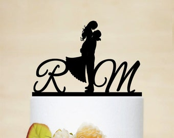 Wedding Cake Topper,Initial Cake Topper, Personalized Cake Topper, Acrylic Custom Cake Topper,elegant wedding topper -I008