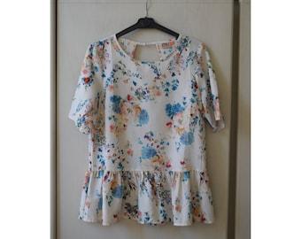 Woman floral jersey (EU size 38)