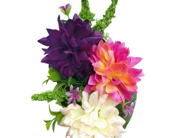 10% off with the code BDAY10 Succulent Spring Dahlia Hair Flower
