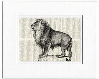 Lion II dictionary page print