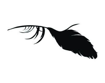 Feather vinyl decal sticker raven crow birds