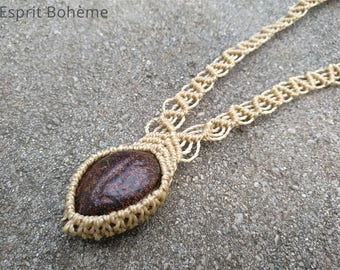 Seed of Guyana, ethnic jewelry, necklace, macrame necklace