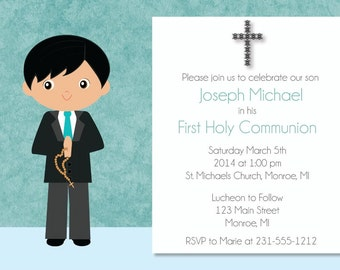 First Communion Invitation, First Holy Communion Invitation