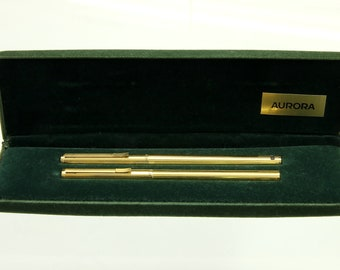 Vintage pen set AURORA Hastil fountain pen + ballpoint pen.