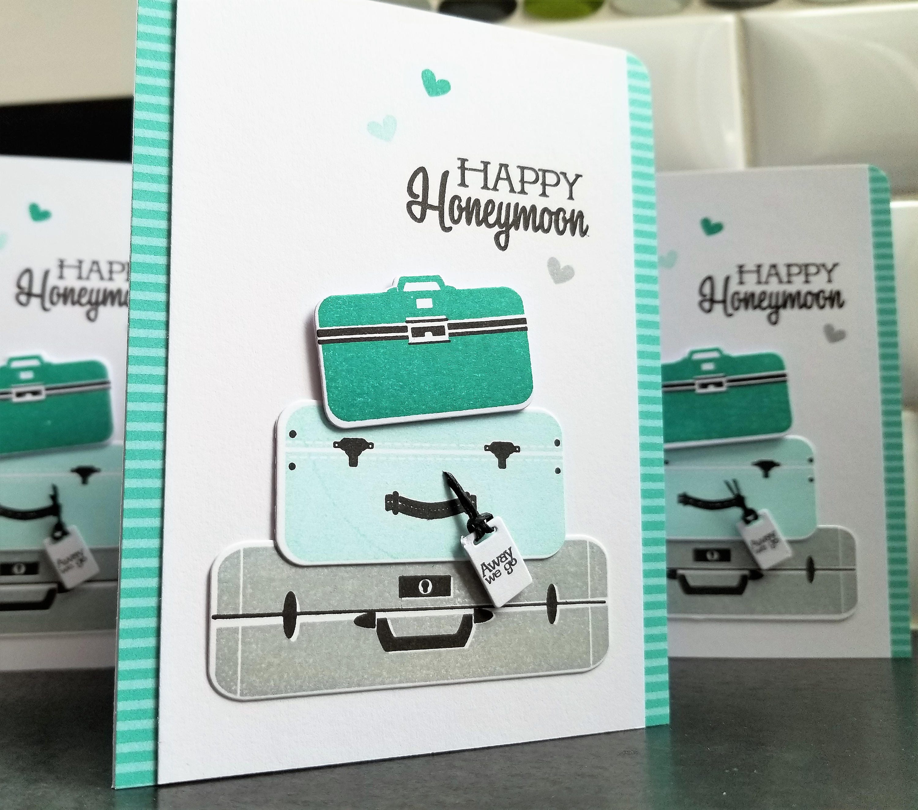 Wedding card honeymoon gift happy honeymoon card bon voyage zoom kristyandbryce Images