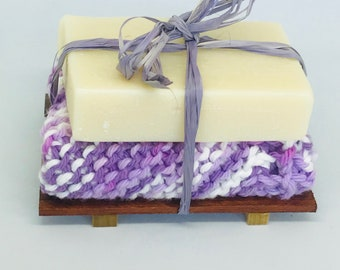 Soap, Washcloth & Soap Dish Gift Set