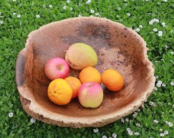 Wood Burl Bowl - Australian Victoria Desert Mallee Eucalyptus Large deep burl bowl- Hand made
