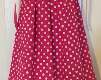 Hot Pink Polka Dots Pillowcase Dress Size 3T