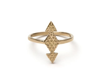 As Above So Below Sacred Geometry Ring