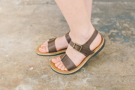 Sandals Brown Brown Sandals Shoes Ankle Sandals Strappy Sandals Brown Sandals Women Leather Vintage Summer Summer Sandals aaq5zw