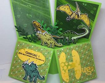 Pop up dinosaur happy birthday card