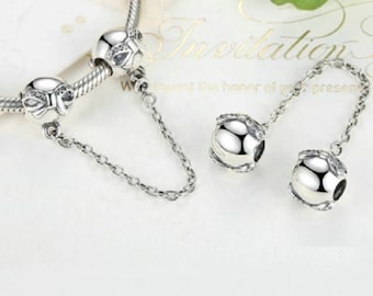 BOWKNOT SAFETY CHAIN / New / Threaded / Silver Infused Alloy /