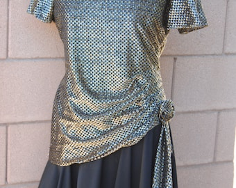 Vintage 1980's Glam Metallic Dress