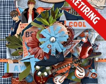 Digital Scrapbook: Elements, Guys Being Cool