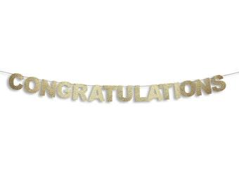 CONGRATULATIONS Banner, Congratulations Garland, Wedding garland, Wedding banner, Wedding decoration