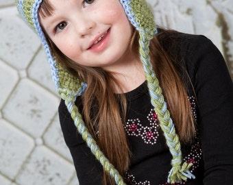 Flower Earflap Hat - Newborn to Adult