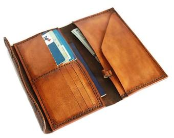 Travel document wallet(4 colors) passport holder travel wallet leather travel wallet leather passport wallet wallets for women tan wallet
