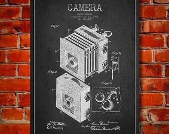 1903 Camera Patent, Canvas Print, Wall Art, Home Decor, Gift Idea