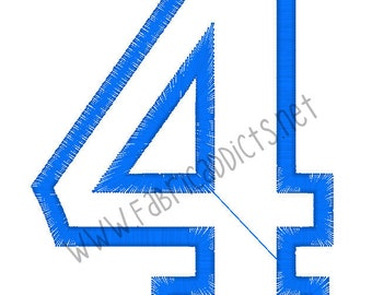 Applique #4 fits 4x4 Hoop for Embroidery Machine - Automatic Download Multiple Formats