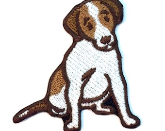 Jack Russell Terrier Iron on Patch No Name