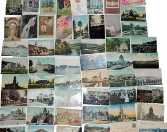 Lot of 50 Antique and Vintage Postcards