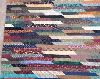 Multi Strips Quilt Top