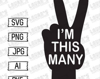 i'm this many