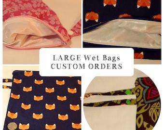 Wet Bag | Diaper Bag | CUSTOM L | Reusable | Cloth Nappy | PUL | Eco Bag