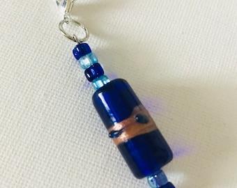 Blue Zipper Pull
