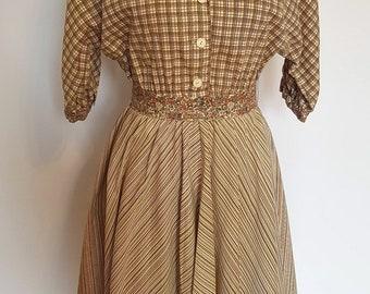 1950's multi-pattern country dress