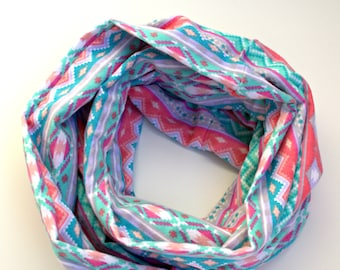 Monogrammable Cozy Flannel Aztec Infinity Scarf, Only store to offer these!