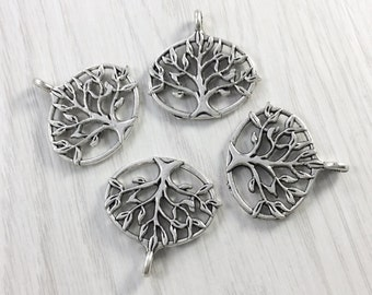 20pcs Double sided Antique Silver Tree of Life Charms Tree of Life Pendants