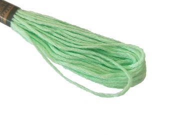 1 skein 8 m stranded Mercerized cotton - green mint 195