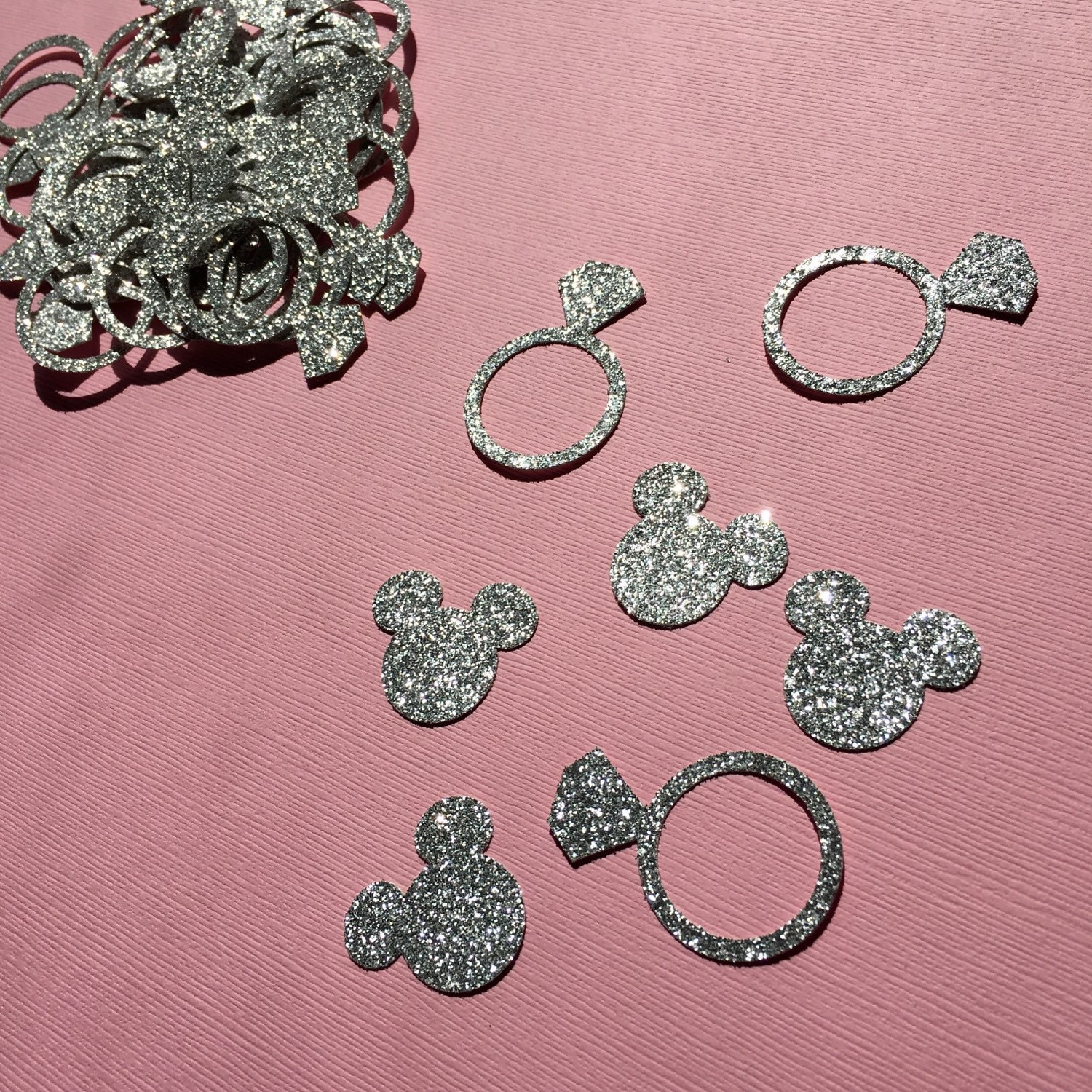 Minnie Mouse Inspired Wedding Confetti Diamond Rings Minnie