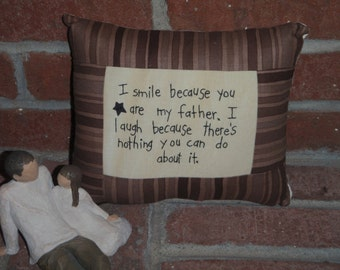 Smile Father Pillow