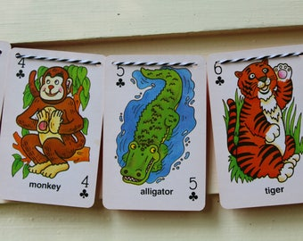 Vintage Animal Card Bunting (Clubs)
