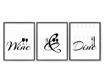 Dining Room Wall Art   Dining Room Art   Kitchen Prints   Kitchen Signs    Dining