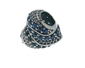 Authentic Pandora Aqua Heart London Blue Crystals 797015NABMX