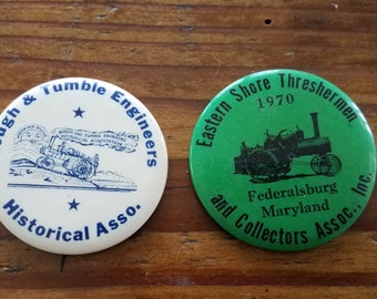 Vintage Eastern Shore and Engineer Metal Buttons
