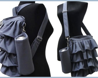 Convertible Laptop Backpack / FREE - Removable water bottle pocket + FREE - Strap for it / Customizable as Color and Size - Fully padded