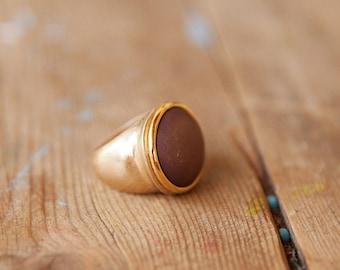 Big gold ring, Brown ring, Gold round ring, Big ring, Gold ring, Brown & gold ring, Round ring, Large gold ring, Big round ring, Large ring