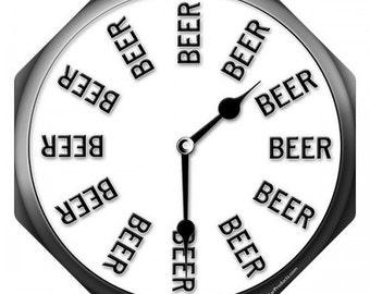 "The ""Beer Thirty"" Clock Metal Bar Sign"