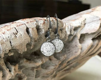 Druzy Earrings, Silver Druzy Earrings, Raw Silver Druzy Earrings, Gold Raw Silver Druzy Earrings, Raw Stone Druzy, Raw Stone Jewelry