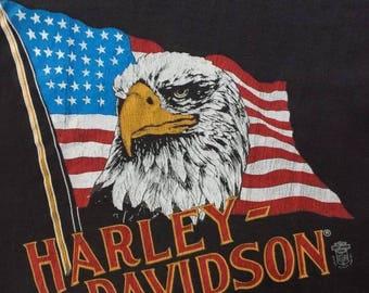 Rare Vintage 1983 Harley Davidson Sleeveless Shirt (Fleetwood) medium