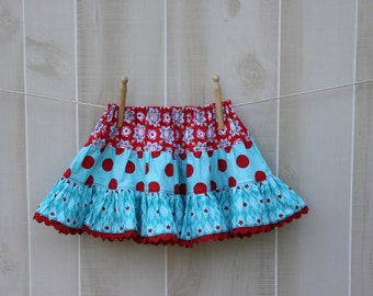 SEW FESTIVE  Tiered Skirt PDF Pattern - Size 2t-14 Child - Easy Sewing Pattern -  Easter Skirt - Instant Download