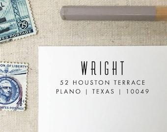 Return Address Stamp. Style 76. Self-Inking Stamp. Wooden Stamp. Wooden Mailing Stamp. Custom Address Stamp. Self-Inking Address Stamp.