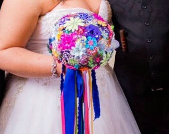 DEPOSIT | Brooch Bouquet | Custm Made Wedding Bouquet | Alternative Bouquet