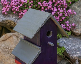 Purple Asymmetrical Birdhouse