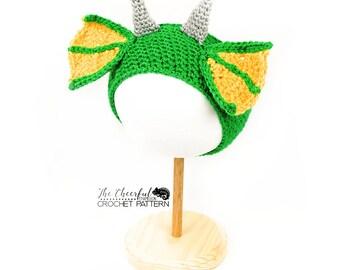 Dragon Crochet Pattern  - Ear Warmer Pattern - Dragon Headband Pattern - Crochet Headband Pattern - Head wrap Pattern - Dragon Band